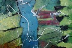 Vestmanna Akrylmaleri 70x60 cm 3800 mr