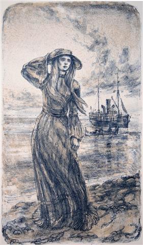 Victoria I Litografi 37x21,5 cm 3000,-kr u.r.