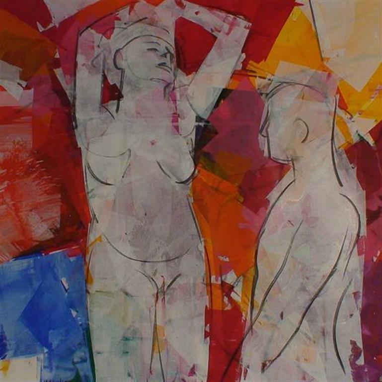 Fristinnen Akrylmaleri (100x100 cm) kr 13500 ur