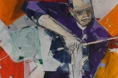 Dirigenten Akrylmaleri (80x80 cm) kr 10000 ur