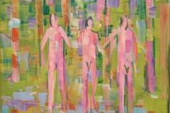 I skogen II Akrylmaleri (30x25 cm) kr 3000 mr