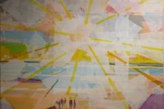 Solens tilbakekomst Akrylmaleri (80x80 cm) kr 12000 ur