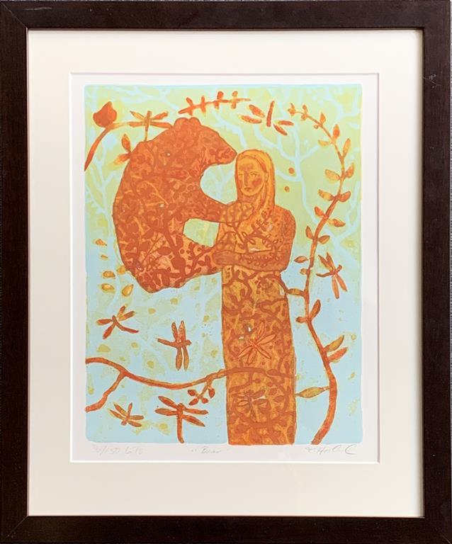 Bear Litografi (39x31 cm) kr 3300 mr