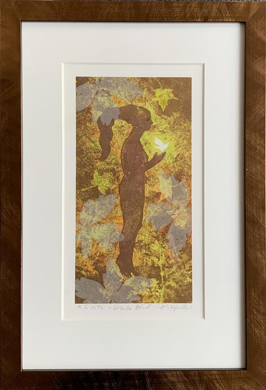 White Bird Litografi (27x15 cm) kr 1600 mr