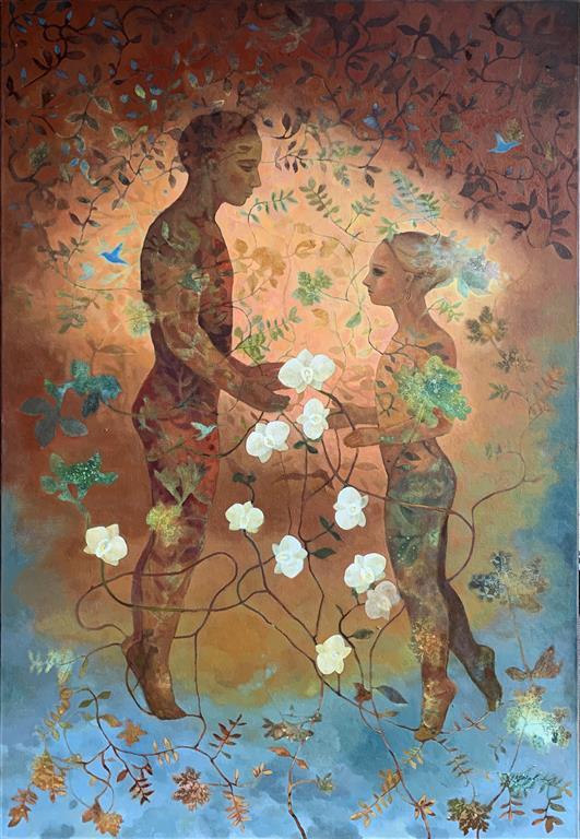White Grace Oljemaleri (150x100 cm) kr 27000 ur