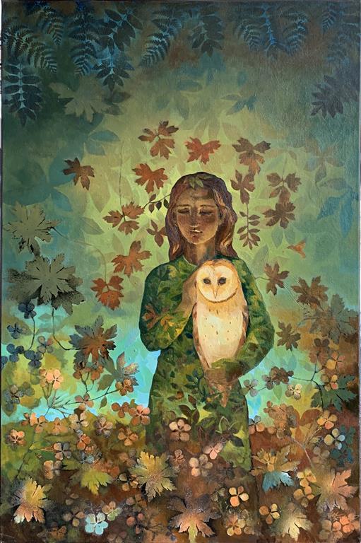 White Owl Oljemaleri (120x80 cm) kr 18000 ur