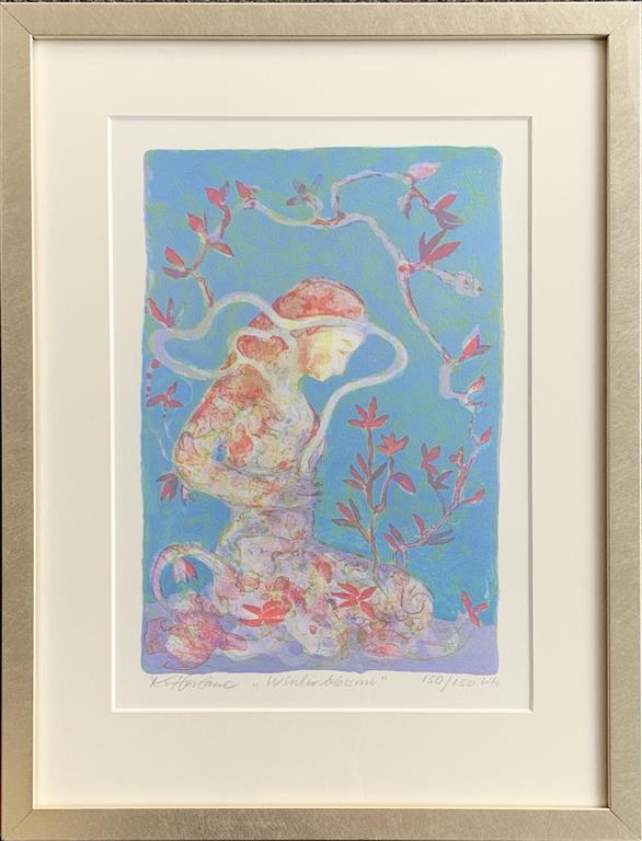 Winter Blossom Litografi (33x23 cm) kr 1900 ur