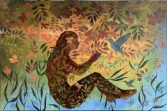 Kolibri Oljemaleri (80x120 cm) kr 16000 ur
