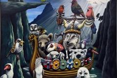Magical fjord Akrylmaleri (60x75 cm) kr 12000 ur