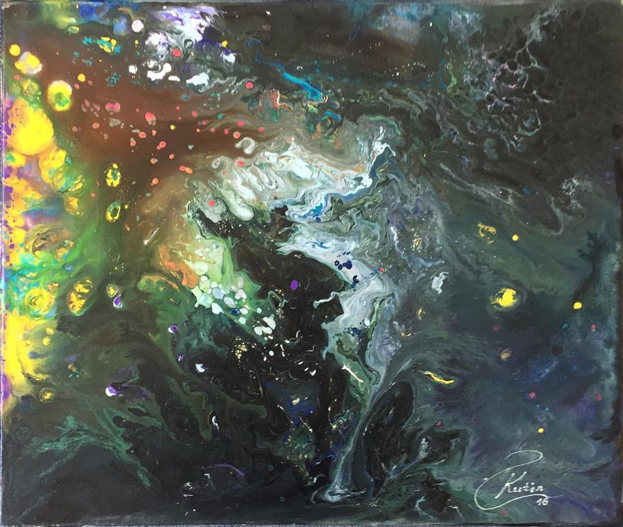 Kveldslys Oljermaleri (65x54 cm) kr 6000 ur