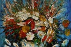 Blomster Oljemaleri 90x80 cm 8000 ur