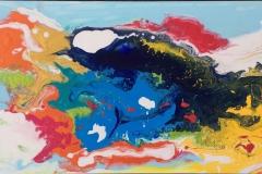 Fargeglede II Oljemaleri (35x70 cm) kr 4500 ur