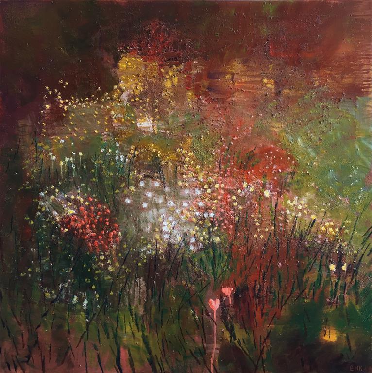 Du gav oss de blomster, som lyser Oljemaleri (80x80 cm) kr 15000 ur