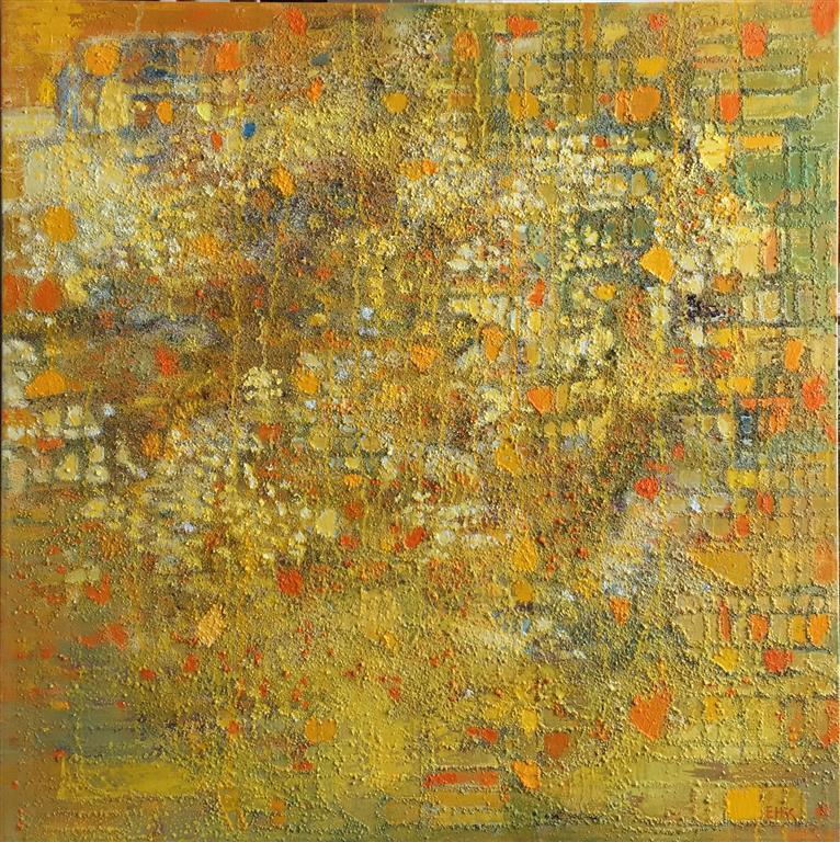 Poesi i kornmarken Oljemaleri (80x80 cm) kr 15000 ur