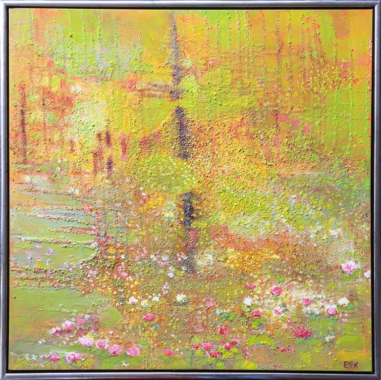 Tidlig sommerdag Oljemaleri (80x80 cm) kr 12000 mr