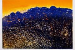 Sol over land Linosnitt 40x56 cm 3000 ur
