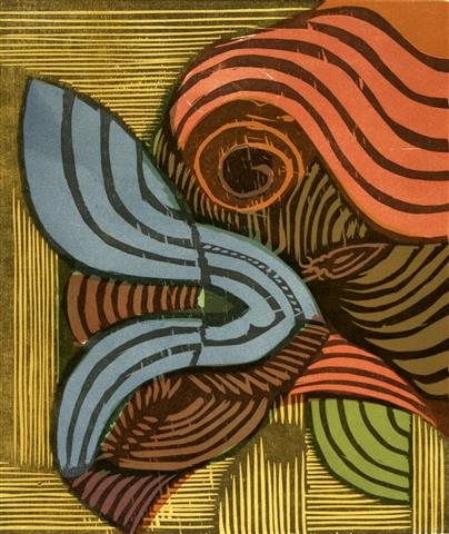 Blaa Fjaril Tresnitt 28x23,5 cm 1000,-kr u.r.