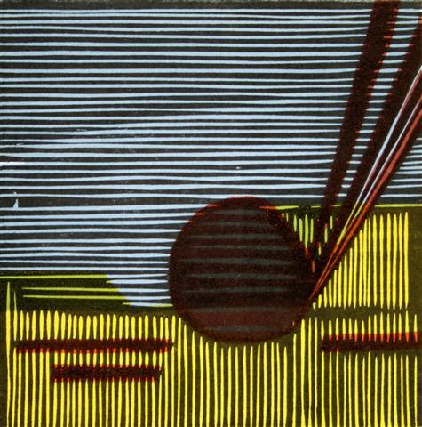 Bruten Horisont II Tresnitt 16x16 cm 900,-kr u.r.