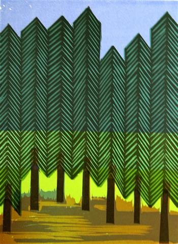 Skogsglantan Tresnitt 24x17,5 cm 1000,-kr u.r.