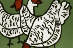 Honer Tresnitt 16x16 cm 900,-kr u.r.