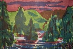 Skogen Tresnitt 38x55 cm 3000,-kr u.r.