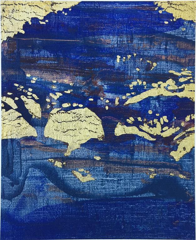 Blå skumring Serigrafi (45x36 cm) kr 2800 ur