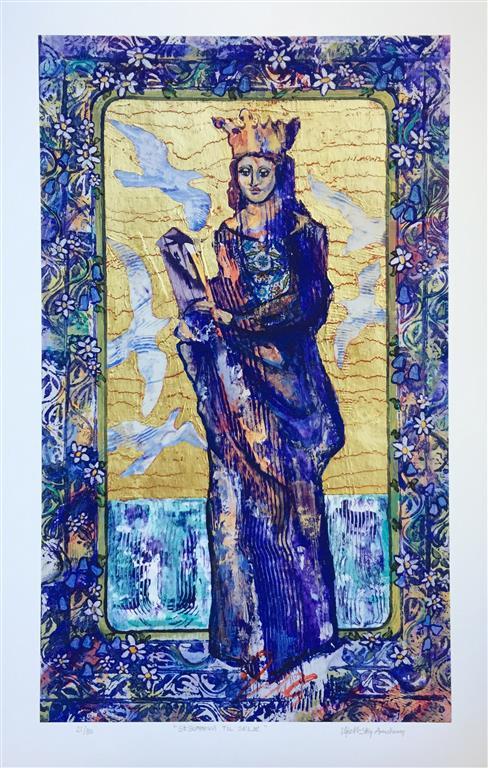St. Sunniva til Silje Serigrafi (75x45 cm) kr 3600 ur