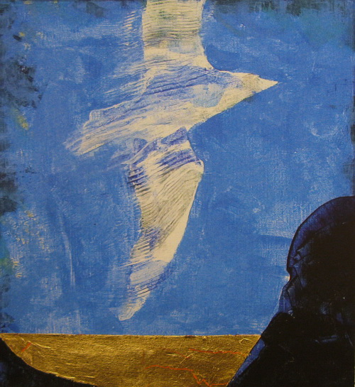 Svevende Litografi 28x25,5cm 1600,-kr u.r.