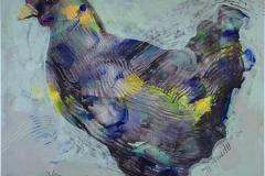 Høne I Serigrafi (29x29 cm) kr 1400 ur
