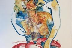 Havets kardinal I Serigrafi EA (40x32 cm) kr 2200 ur