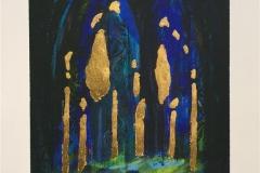 Katedral Serigrafi med bladgull (34x28 cm) kr 2200 ur