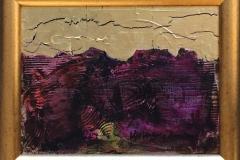 Rød skisse Akrylmaleri med bladgull (20x27 cm) kr 2600 mr
