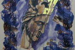 Soli deo Gloria Serigrafi 33x28cm 2000,-kr u.r.