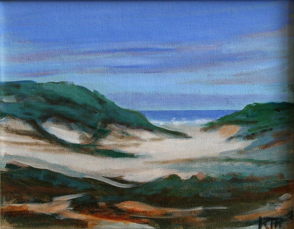 Mot stranden Oljemaleri 19xx24 cm 2500 mr