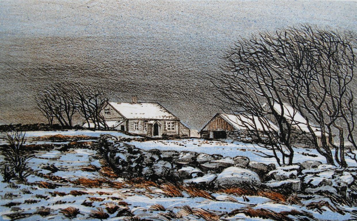 Vinterboer Litografi 15x24,5 cm 1800 ur