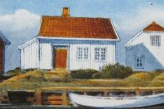 Fra Brekkestoe Litografi 10x21 cm solgt