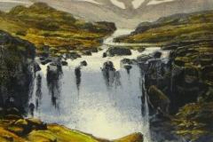 Høgfjell Litografi (44x26 cm) kr 2800 ur