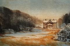 Vintereng Litografi (21x40 cm) kr 2200 ur