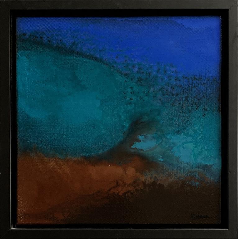 Blue Landscape 1 Akrylmaleri (30x30 cm) kr 4000 mr
