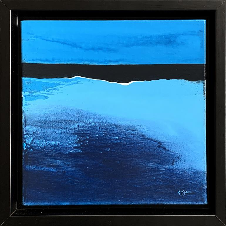 Blue Landscape 2 Akrylmaleri (30x30 cm) kr 4000 mr