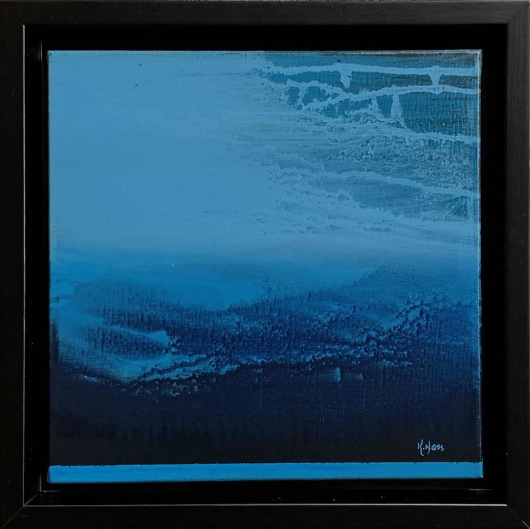 Blue Landscape 4 Akrylmaleri (30x30 cm) kr 4000 mr
