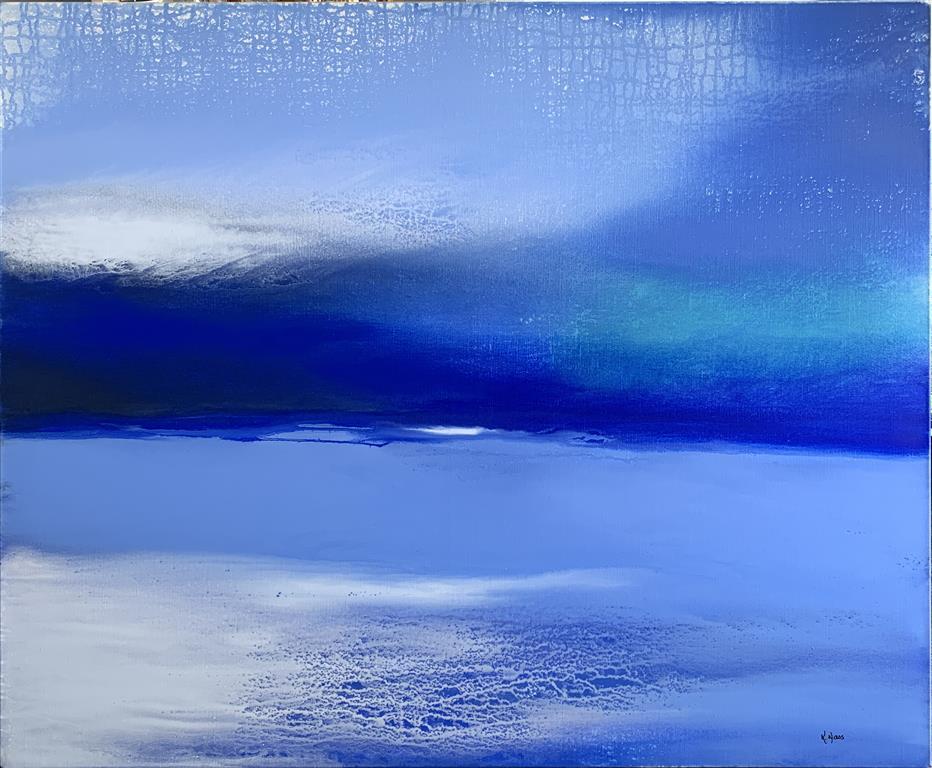 Blue Memories Akrylmaleri (100X120 cm) kr 14500 ur