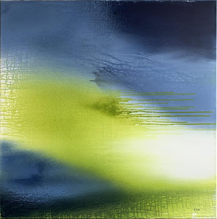 Green Day Akrylmaleri (100x100 cm) kr 12500 ur