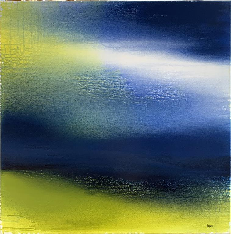 Invisible Traces 2 Akrylmaleri (90x90 cm) kr 10000 ur