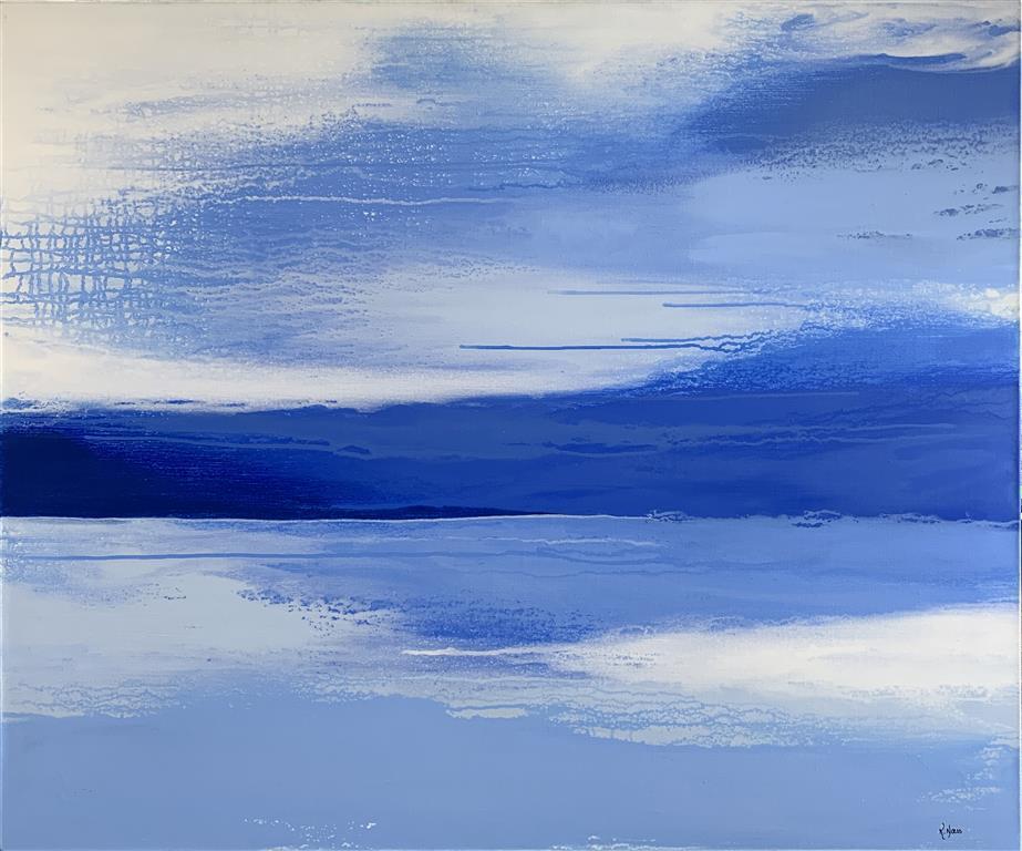 Light Blue Landscape Akrylmaleri (100x120 cm) kr 14500 ur