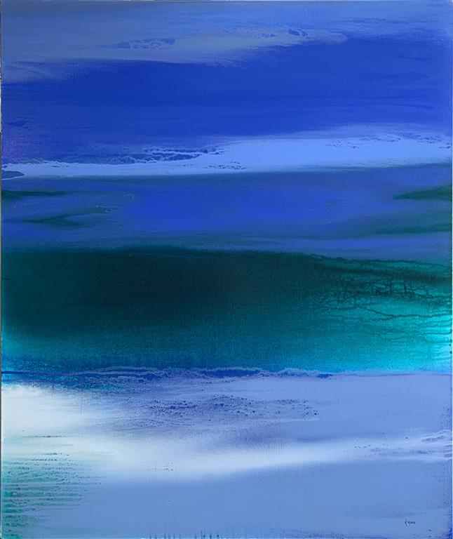 When the Night paints the Sky blue Akrylmaleri (120x100 cm) kr 14500 ur