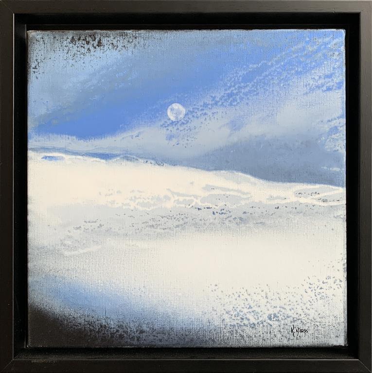 Wintermoon Akrylmaleri (40x40 cm) kr 6000 mr