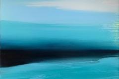 Flowing like a River Akrylmaleri (70x90 cm) kr 9000 ur