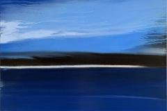 When the Night is slow Akrylmaleri(90x90 cm) kr 10000 ur