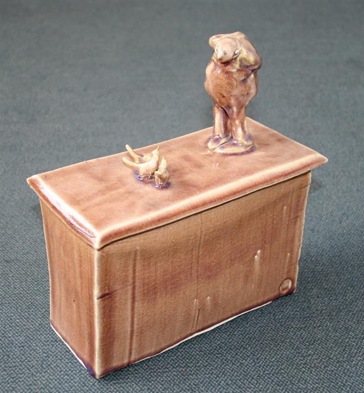 Mann og fugler Keramikk H33 cm 3500